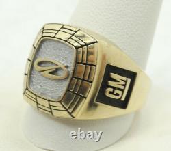 10K Yellow & White Gold Black Enamel GM Company Ring Size 12.5 18.4g A9656