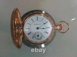 14 K Gold Hampden Enameled Pocket Watch