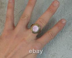 1797 Georgian 18ct Rose Gold Black & White Enamel Mourning Panel Ring