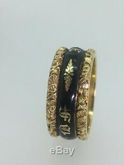 18K Gold/Enamel Ring in Memory of 2nd Baron John Lord Henniker. UNDER OFFER