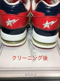 A Bathing Ape Roadster Enamel Bapesta Low Cut Sneakers Red/Gold/Black 27.5 US9.5