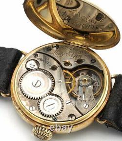 Antique Art Deco Lady Elgin Watch Prod. 1920 14K Gold Enamel 15J Grade 444 Runs