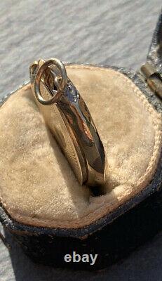 Antique Black Enamel Horseshoe Locket Yellow Gold