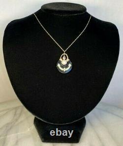 Antique Victorian 14K Rose Gold Diamond Pearl Onyx White Enamel Pendant