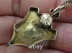 Antique Victorian 14k Gold Seed Pearl black enamel pendant