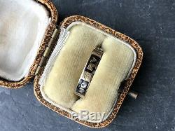 Antique Victorian Black Enamel In Memory Of Band Yellow Gold Ring