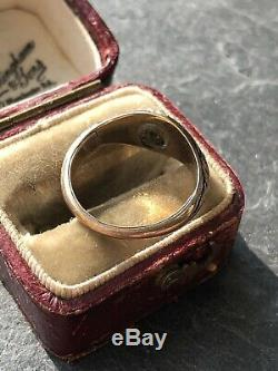 Antique Victorian Pearl Black Enamel Band Ring Yellow Gold Locket Back