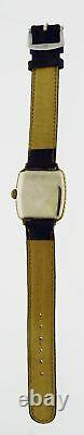 Art Deco Elgin E-12 14k Gold Filled Enamel Two Tone Wadsworth 17 Jewel Watch