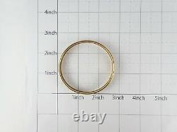 Authentic Hermes Email Bracelet Bangle Enamel Black Gold