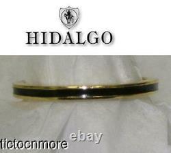 Authentic Hidalgo 18k Gold & Black Enamel Eternity Stackable Band Guard Ring