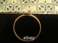 Beautiful, Finely Crafted Antique Victorian Pearl & Black Enamel 15CT Gold Ring