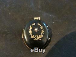 Beautiful Victorian Quality 9ct Gold, Black Enamel & Seed Pearl Locket