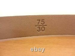 CHANEL Belt Chain AUTH Coco Vintage Rare Logo CC Enamel narrow Black Leather F/S
