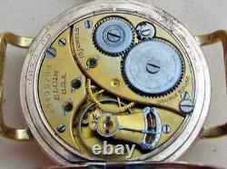 ELGIN Hunter Enamel Dial Gold Plated case Vintage USA mens mechanical Wristwatch