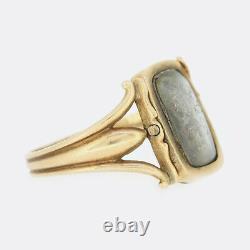 Georgian Gold Ring Georgian 1802 Black Enamel Mourning Ring 15ct Yellow Gold