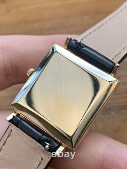 Gorgeous Vintage 1960s Mens UNIVERSAL GENÈVE 9ct Solid Gold Enamel Dial