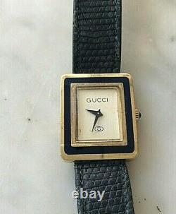 Gucci Ladies Wrist Watch 1980s Original Vintage Vermeil Enamel (720J)