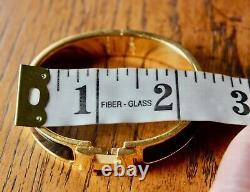 Hermes black enamel clic H bracelet with gold hardware PM