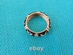 Hidalgo 18k Gold Black Enamel 5.5 MM X Eterlity Band Ring Sz 6 1/2