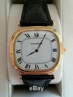 Jaeger-LeCoultre 18K Enamel Dial, 18K buckle, Serviced by JLC, runs perfectly