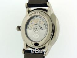 Jaquet Droz Grande Seconde J003034201 18k White Gold Enamel 43mm $19,800 LNIB