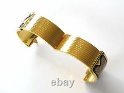 Michaela Frey TEAM Black Orange Brown Plated Gold 18k Clasp Royal Bangle