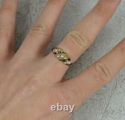 Mid Victorian 18ct Gold Black Enamel and Seed Pearl In Memory Of Mourning Ring