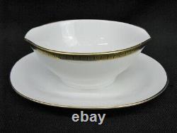 Mint Service for 12 Piemonte Richard Ginori Gold & Black Enamel China Set (189)
