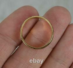 Momento Mori 18 Carat Gold and Black Enamel Skeleton Band Ring K 1/2 3.9mm wide