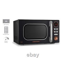 Morphy Richards 511503 Microwave 20L 8 Automatic Programs Rose Gold Black
