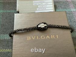 NEW Bvlgari Serpenti Forever Black & Gold Metallic Enamel Bracelet Bulgari