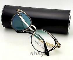 New BVLGARI Eyeglasses 2186 2018 53-17 140 Gold & Black Frames with Enamel Decor