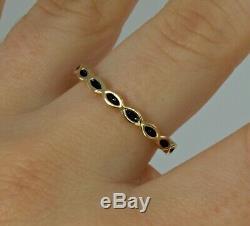 Pandora 14k Yellow Gold Black Enamel Shaped Ladies Dress Ring Sz. N 54 #66426