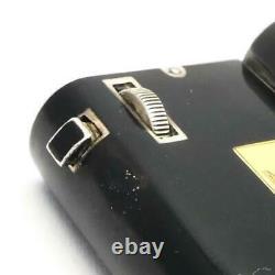 RARE Vintage 1930's French Sterling Silver CARTIER Black Enamel & Gold Lighter