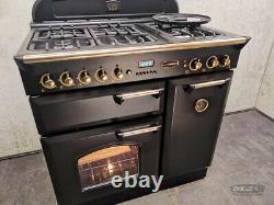 Rangemaster Classic 90 90cm ALL GAS NG RANGE COOKER Black & Gold (1F09)