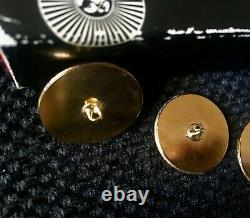 Rare set of Piero Fornasetti gold tone enamel set of 5 charms buttons