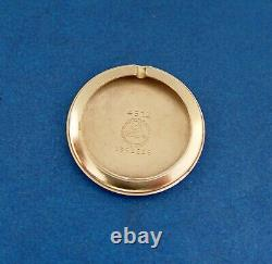 SERVICED & WARRANTYLORD ELGIN 1952 WithCASE BLACK ENAMEL-14KYG. F. HONEYCOMB DIAL