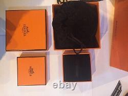 STUNNING GENUINE HERMES NEW Extra Wide Black/Gold Clic Clac Cost £680 Receipt XL