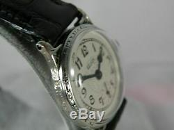 Serviced 1920` Elgin Men`s Black Enamel Art Deco Watch. Extremely Clean