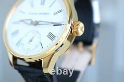 Systeme Glashütte Vintage 1890`s NEW CASED Enameled Men`s German Wrist Watch