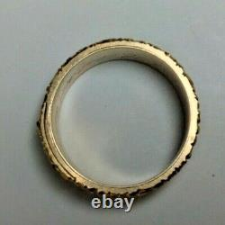 Victorian Black enamel mourning ring 14k Yellow Gold Onyx stone inscription 1866