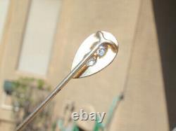 Vintage 1/4ctw Genuine Diamond 14KT Gold Stick Pin withBlack Enamel Frame