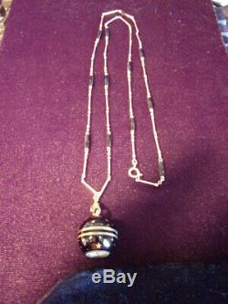 Vintage Bucherer 17jewels Ball watch, black enamel with gold Stars