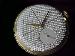 Vintage Man's Lord Elgin Clubman Enamel Bezel Honeycomb Dial Just Serviced