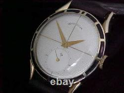 Vintage Man's Lord Elgin Clubman With Enamel Bezel In Fine Condition Serviced