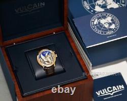 Vulcain Cloisonne 50s Presidents The Pegasus Alarm Enamel 200550.318L Wristwatch