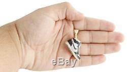 10k Or Jaune Émail Noir Air Jordan Chaussures Pendentif 1.75 Charm 0,60 Ct