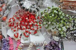 12.4kg Lot D'emplois Costume Mixte Gemme Ethnique Bracelets De Bijoux Colliers £1500