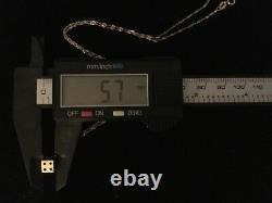 14k Or Jaune 3d Lucky Dice Charm Collier Pendentif Black Enamel Dots # 212