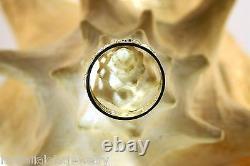 9mm Hawaiian 14k Jaune Diamond-cut DC Lei Mette Noir Enamel Bague 8.5
